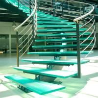 China Mono Stringer Stairs / Single Stringer Metal Staircase Prefabricated wholesale