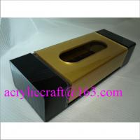 China Luxury acrylic tissue /  napkin / paper towel box for restaurant and home wholesale