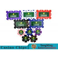 Translucent Marco Style Casino Poker Chip Set With Crystal Clear Texture for sale