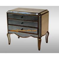 China Direct factory price antique glass venetian mirrored bedside cabinet  furniture wholesale