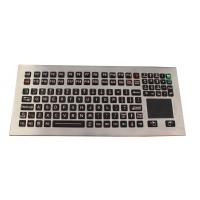 Buy cheap 116 Keys Washable Industrial Keyboard With Touchpad Adjustable Backlight from wholesalers