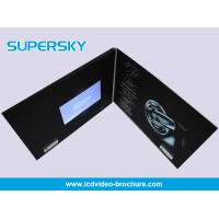 China Promotional LCD Video Brochure Free USB Cable Video Booklets With Durable Battery wholesale