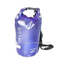 China Water-Resistant 10L Blue PVC  Dry Tube Bag , Travel Dry Backpacks with Adjustable Shoulder Strap wholesale