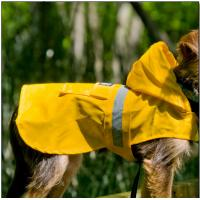 China Bullmastiff Nylon Seattle Slicker Dog Raincoat Yellow color for large dogs wholesale
