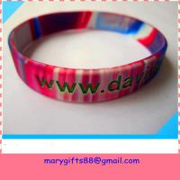 Quality 1/2 inch swirl colors silicone bangles wholesale