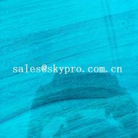 China High Density PVC Plastic Sheet Transparent Blue Soft Super Thin Flexible on sale
