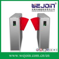 Quality Custom Automatic Half Height Turnstile Flap Barrier Gate with PU Rubber for sale