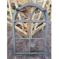 China Tall Cast Iron Arched Casement Windows / Folding Cast Iron Mirror Frames on sale