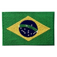 China ODM Blend Twill Brazil Country Flag Patches Embroidery Border wholesale