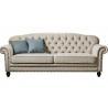China 3 Seater Lobby American Style Sofa , 24'' Arm Twin Sleeper Sofa Birch Wood wholesale