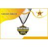 Quality 3-Sides Polished Souvenir Marathon Metal Medals With OEM Logo For Award for sale