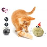 Electronic Auto Motion Bouncing Battery Operated Pet Toys With Plush Cover for sale
