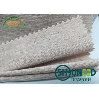 China Chest Canvas Horse Hair Interlining With Good Elasticity Woven Technology wholesale