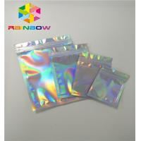 Buy cheap Plastic Stand Up Cosmetic Packaging Bag Hologram Zipper Packing Customized Size from wholesalers