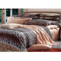 Quality Leopard Printed Sateen Bedding Sets , Quilt Cover Sets Queen Size for sale