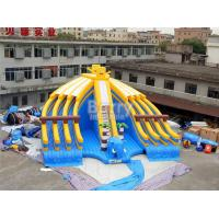 Buy cheap Yellow And Blue Spongebob Inflatable Water Slides For Pool With Digital Printing from wholesalers
