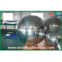 China 0.6mm PVC Inflatable Mirror Ball Silver Balloon Decoration Air Tight Seal Style wholesale