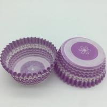 China Purple Round Shape Muffin Paper Cups, Striped Cupcake LinersFDA SGS Standard wholesale