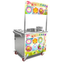 China Silver model stainless steel gas cotton candy machine with wheels wholesale