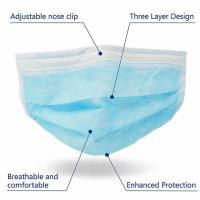China Anti Virus 3 Ply Medical Face Mask Advanced Foldable Structure Techniques wholesale