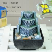China Small Artificial Hill Polyresin Water Fountain For Indoor Desk Decoration wholesale