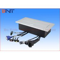 China Power Supply Office Desk Power Sockets Square Corner With Audio Video Connector on sale