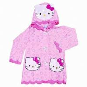China Pink Hello Kitty Pvc Rain Coats With Hood , Kids Rain Wear wholesale