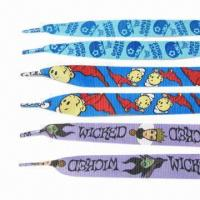 Quality Flat Shape Shoelaces with Mixed Colors and Imprint Pattern, Available for OEM Orders for sale