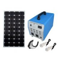 China 100w DC Output 12V / 8A Home Solar Power System GEL Battery Portable For House on sale