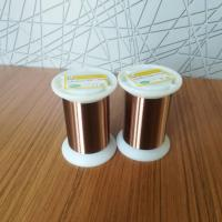 China Thermal Class 155 / 180 UEW 0.01mm Ultra Fine Magnet Wire Enameled Copper Winding Wire wholesale