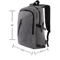 China Mens Anti Theft Business Laptop Backpack , Durable USB Charging Backpack wholesale
