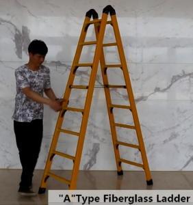 China Collapsible 2.05m 2X8 Fiberglass Telescoping Ladder wholesale