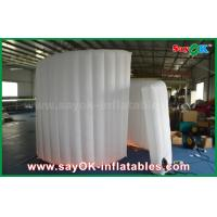 China 210D Oxford Fabric Inflatable White Spiral Wall For Photo Booth Tent 1 Year Warranty wholesale