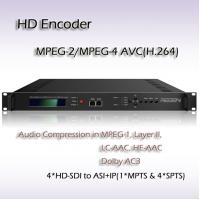 China Digital TV headend MPEG-2/H.264 HD Encoder Input interface: 4*HD-SDI IPTV Encoder on sale