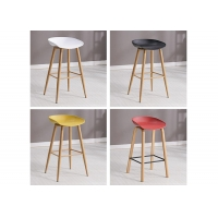 China Color Optional Solid Wood Counter Stools , Beech Restaurant Bar Stools wholesale
