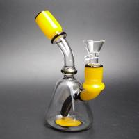 China Small Cute Glass Water Piece Tobacco Glass Bongs / Party Bong With 14mm Male wholesale