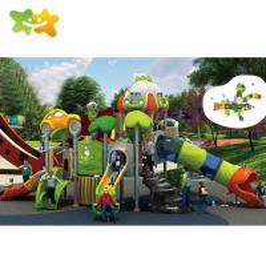 China Plastic Public Park Outdoor Slide Children Outdoor Playground Equipment wholesale