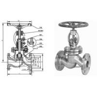 China Stainless Steel Globe Valve Streamline Flange End With Bolted Bonnet wholesale