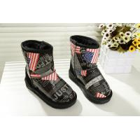 China New American flag boots winter boy/girl middle aged big child boots cotton shoes for kids wholesale