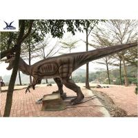 China Giant Dilophosaurus Model Outdoor Dinosaur Statues , Dinosaur Yard Art  wholesale