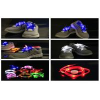 Quality Super Shining New Generation LED Light Shoelaces Powered With CR2032 Coin Battery for sale
