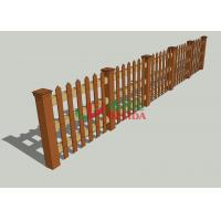 China Customized WPCcomposite Wood Fence , Artificial Wood Fence Environmental Friendly wholesale