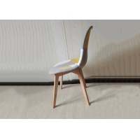 China beech Wire Velvet And Wood Dining Chairs With Backrest Design wholesale