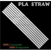 China Eco-friendly straw for drinking use, 100% compostable straw, PLA folding drinking straw wholesale