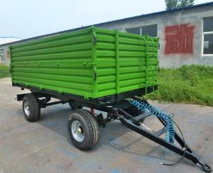 China Tractor Mounted 60hp Hydraulic 5t Self Dumping Trailer Farm Tractor Attachments wholesale