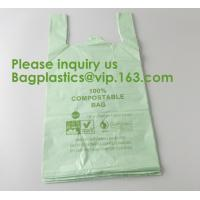 China Heavy Duty Compostable T-shirt Handle Tie Plastic Roll Garbage Bags Trash Bags, t shirt carry bags, bagease, bagplastics wholesale