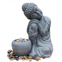 China Hand Holding Face To Have A Rest Buddha Water Fountain For Garden And Home wholesale