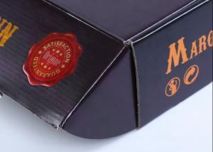 China 320gsm Recycled Flocking Matte Laminated Corrugated Boxes wholesale
