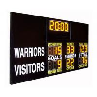 China AFL Type Electronic Soccer Scoreboard / Sports Scoreboard With 12 Inch Yellow Digits wholesale