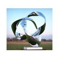 China Custom Size Mirror Polished Stainless Steel Sculpture Modern Art Sculpture wholesale